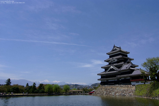 In Nagano -Matsumoto Castle and Japan Alps
